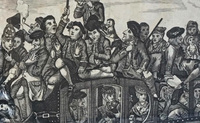 "XII-11-60 Black & White Copper Engraving ""Passengers"" - View 2 detail"