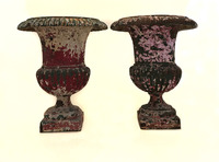 X-5071 Pair of English Iron Urns (View 2)