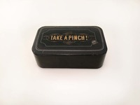 IX-97-323 English Black Lacquer Snuff Box