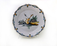 II-5550 French Faience Plate