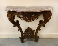 III-08-47 French Lindon Console Table