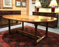 III-06-48 French Walnut Oval Dining Table - View 1