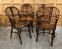 III-06-118 Ash & Elm Windsor Chairs - View 1