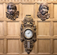 Pair of Cherubs and Barometer