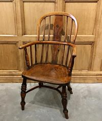 III-04-94 English Yew Wood Windsor Child's Chair