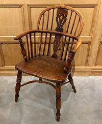 III-06-70 English Yew Wood Windsor Chair - View 2