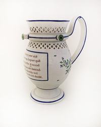 II-5325 Pearlware Puzzle Jug with Poem - View 1