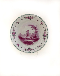 II-5066 French Tourney Faience Plates -  view one