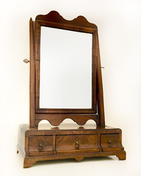 III-05-128 English Walnut dressing table mirror