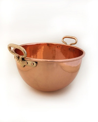 IV-14-11 French Copper Bowl  used for Souffles
