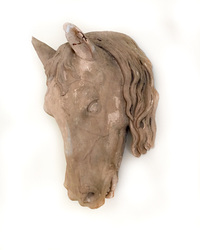 II-06-78 French Terra-cotta Horse's Head
