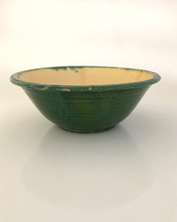 II-6550 Green and Yellow Provincial Serving Bowl