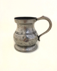 IV-04-49 19th Century Tulip Shaped Pewter Tankard