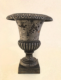 X-08-07/2 French Polished Iron Urn