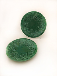 XII-II-181 Pair of English Majolica Plates