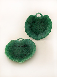 II-17-26 Pair of English Majolica Dishes