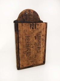 I-08-54 French Sycamore Candle Box - Closed View 1