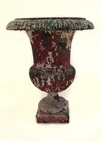 X-5071 Pair of English Iron Urns (View 1)