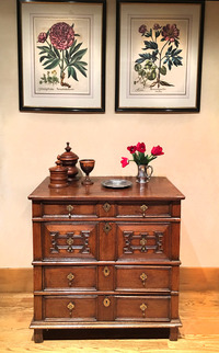 III-03-85 Charles II Oak Chest of Drawers