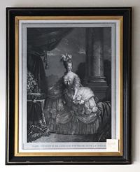 XII-V-107  French Copper Engraving of Marie Antoinette
