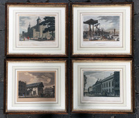 V-970 Set of Four Handcolored Engravings by T. Malton