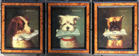 V-04-236  Set of Three French Oil Paintings of Dogs