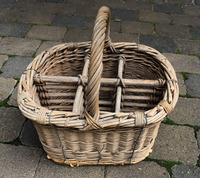 I-08-04  French Wine Bottle Basket