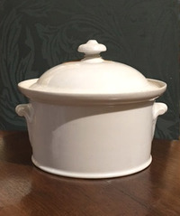 II-04-259-E 19th Century French White Terrine and Lid