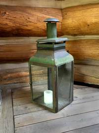 X-08-93 19th Century French Green Tole Lantern