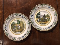 II-05-21 Pair of French Transferware plates