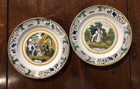 II-05-21/2 Pair of French Transferware Plates