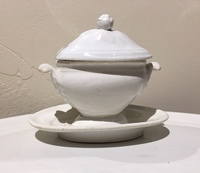 II-04-261-E. French White Salt Dish and Lid