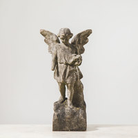 X-18-03  19th Century English Marble Angel - view 2