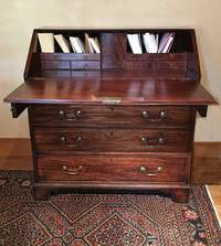 III-98-11 18th Century English Mahogany Bureau - Open view