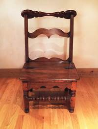III-00-67 18th Century French Walnut Praying Chair