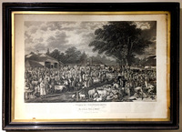 "V-2855 Copper Engraving ""Woborn Sheepshearing"""