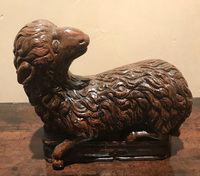 I-00-503  English Chapel Oak Lamb Alter Piece