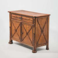 III-19-05 19th Century French Elm Buffet View 1
