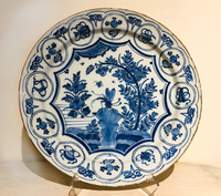 II-18-20 18th Century Delft Blue & White Charger