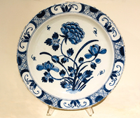 II-18-21 18th Century Delft Blue & White Charger