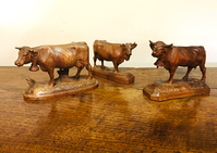 I-18-18 Collection of Three Black Forest Cows