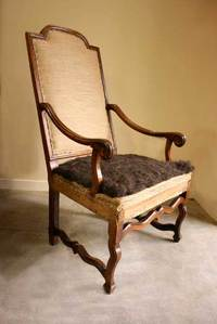 III-08-38 18th Century French Louis XV Walnut Armchair