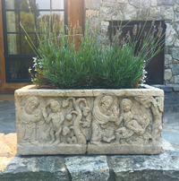 X-00-359/2 French Composite Stone Jardiniere (Pair - Front)